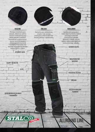 Spodnie robocze BHP monterskie Allround White Line