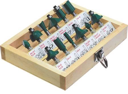 Stalco Frezy do drewna zestaw 12 szt uchwyt 6mm